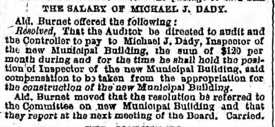 Tuesday, January 16, 1877 - Page 2 - I THE SALABY Off MICHAEL J. DAD ST. Aid. Burnet...