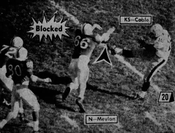 1966 Maylan blocked punt vs. Kansas State