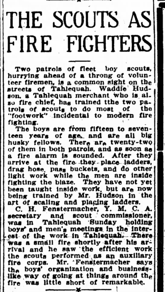 Scouts as Firefighters -Fenstermacher