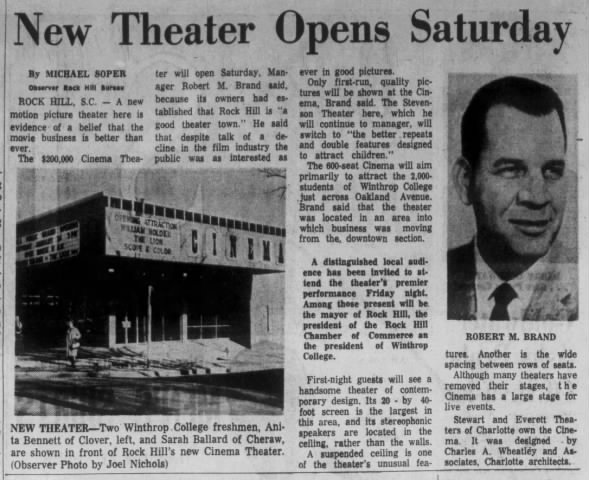 Rock Hill Cinema opening