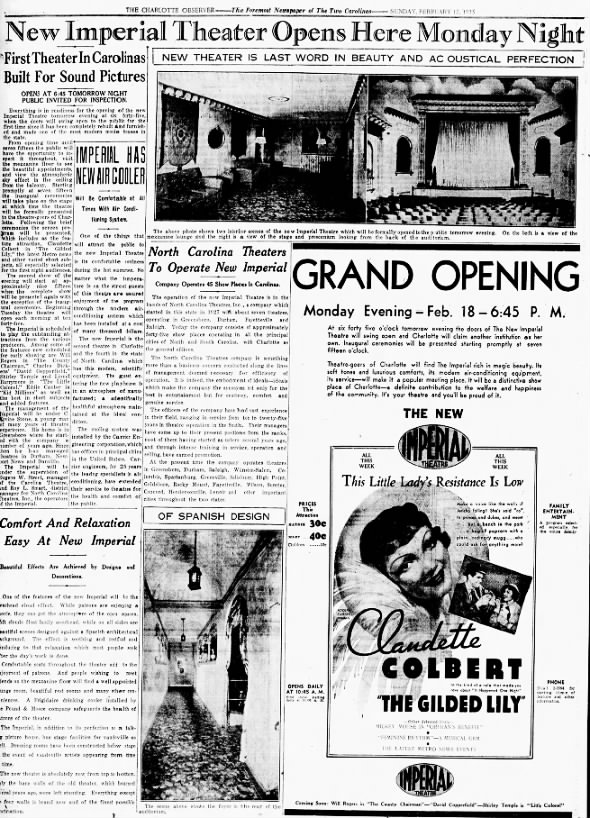 Imperial theatre opening