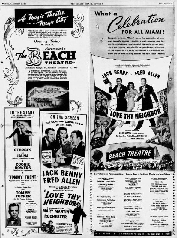 Beach theatre opening