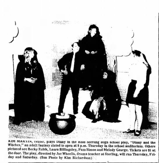 Rebecca Zubik -- Dinny and the Witches at Sterling H.S. - Witches, pictured the door. day and cemer,...