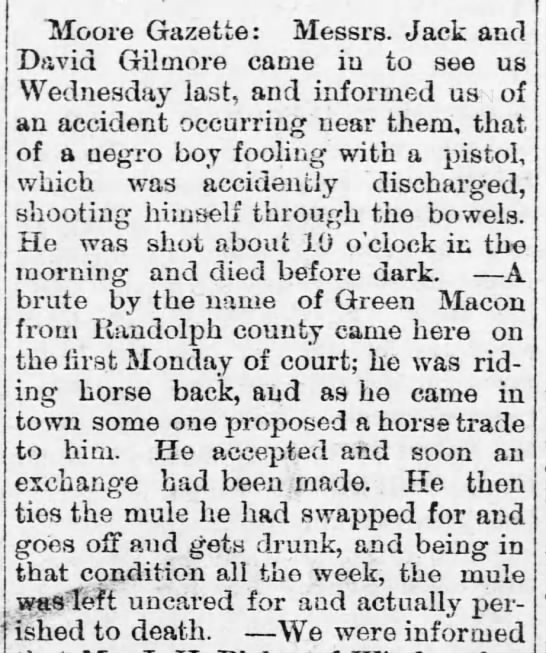 Green Macon - Tiloore Gazette: Messrs. Jack and David Gilmore...