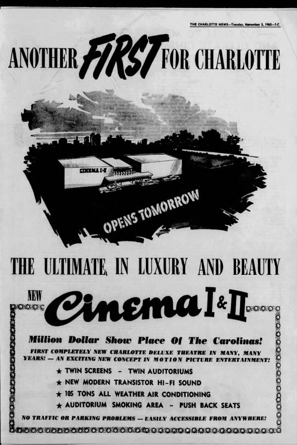Cinema I & II at Charlotteville SC opening