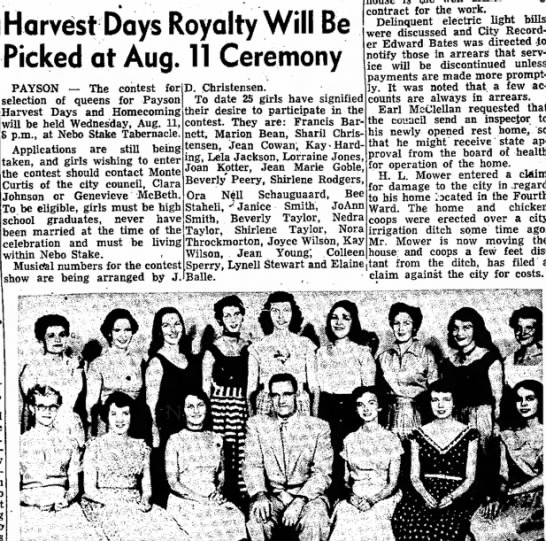 Harvest Days Royality - Harvest Days Royalty Will Be Picked at Aug. 11...