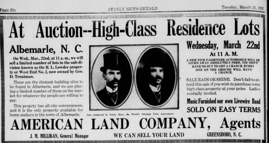 - Tuesday, March 21, 1922 STANLY NEWS-HERALD...