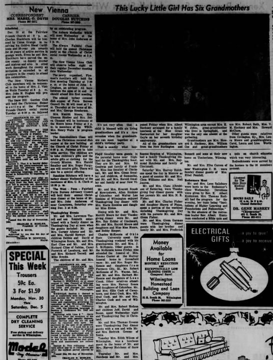 1964 New Vienna (Ohio) News -Nov.30