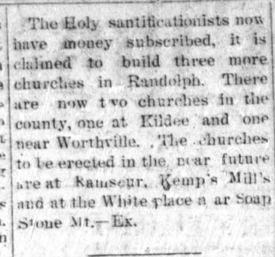 sanctified churches - press- Tho Holy santitieatioiiists now have...