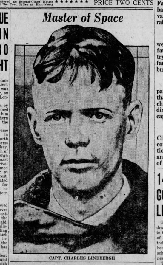 Charles Lindbergh - IN Lindbergh's was on (London by him the in...