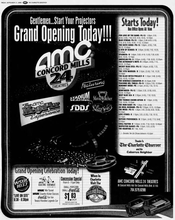 AMC Concord Mills 24 opening