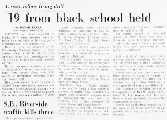 San Bernardino County Sun, Monday, January 21, 1974, B15. - irresls follow firing thill 19 from black...