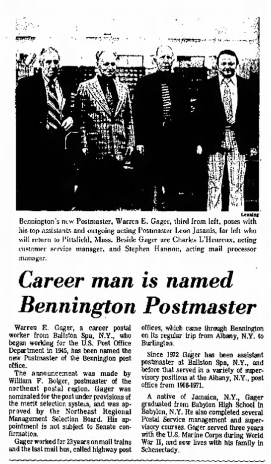 Bennington Banner. 31 Mar 1975 - a fatally a he used The in St. member of of of...
