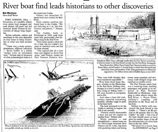 - River boat find leads historians to other...