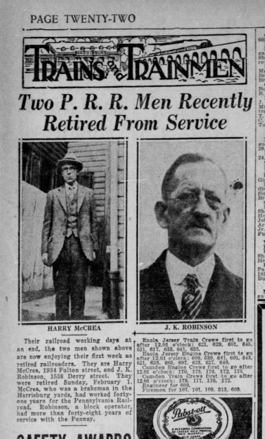 James K. Robinson, brother of David A. Robinson. - PAGE TWENTY-TWO TWENTY-TWO TWENTY-TWO Two P. R....