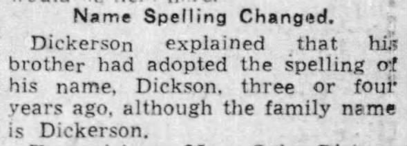 Example of two brothers who spelled their surname differently, 1939