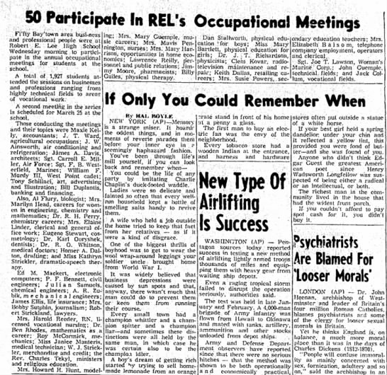 A. R. Zubik -- 50 Participate in REL's Occupational Meetings