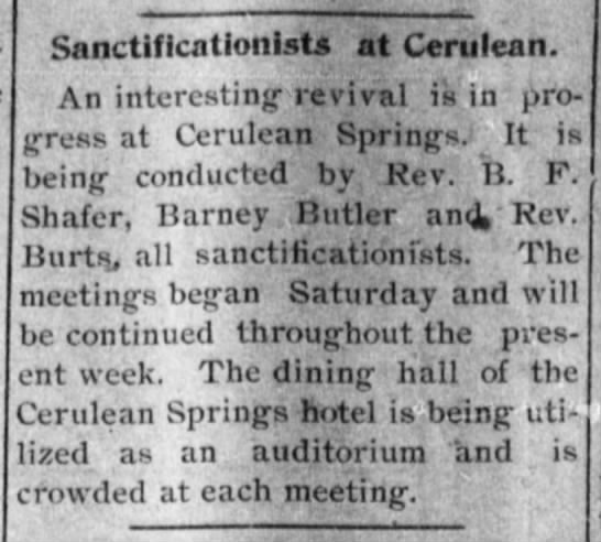 The Daily Kentuckian (Hopkinsville, KY)   Wednesday, 11 May 1898 - SanctificationistfTfCeriiiean An interesting...