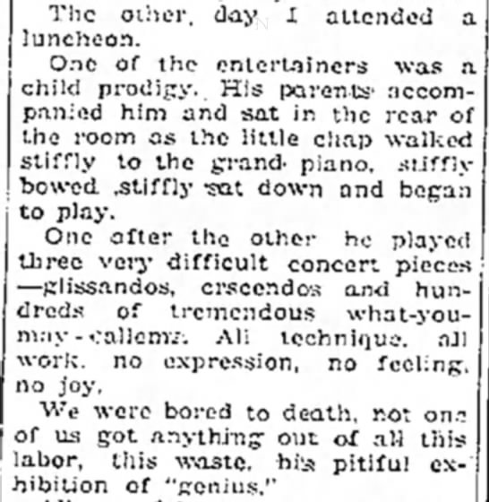 genius piano - The other, day I attended a luncheon. One of...