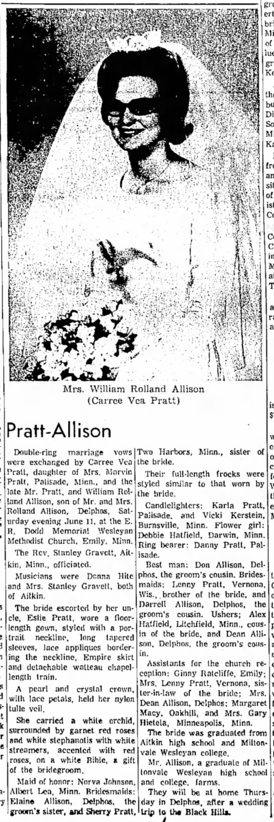 PRatt- Allison Wedding
