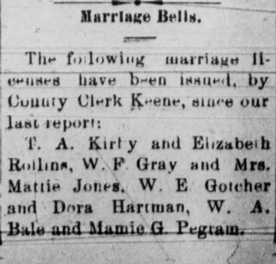 Marriage Bells - HsrrlMge Bells. Tim fo lowing iimiTiauH 11-...