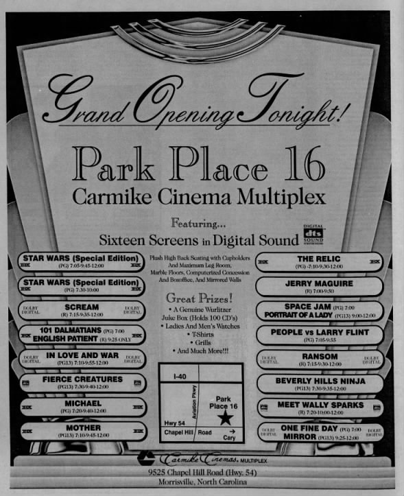 Carmike Park Place 16 opening