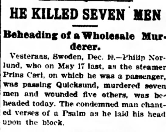 Decator, Illinois - that men but can attempt HE KILLED SEVEN...