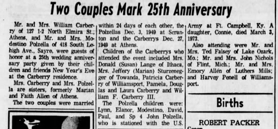 - Two Couples Mark 25th Anniversary Mr. and Mrs....