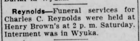 Charles Cecil Reynolds - Reynolds —Funeral services for Charles C....