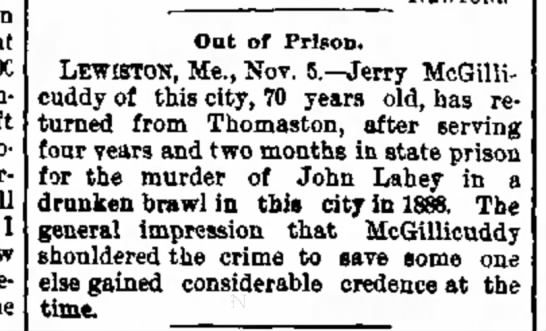 5 November 1892 - over-confidence I Out of Prison. LEWISTOtf,...