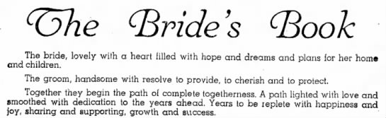 The Bride's Book - (•Book The bride, lovely with a heart filled...