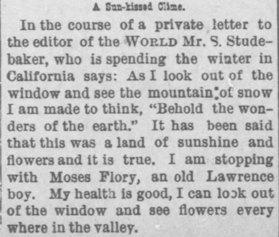 2/8/1894 Lawrence Weekly World - In the course of a private letter to the editor...