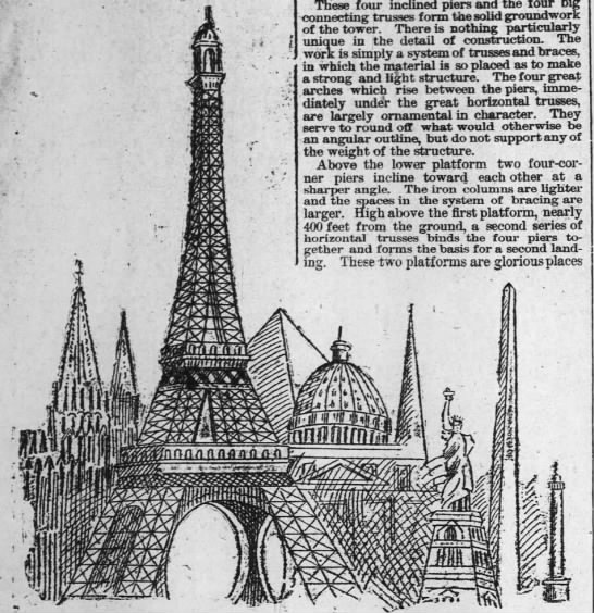 The Eiffel Tower - These four inclined piers and the four big...