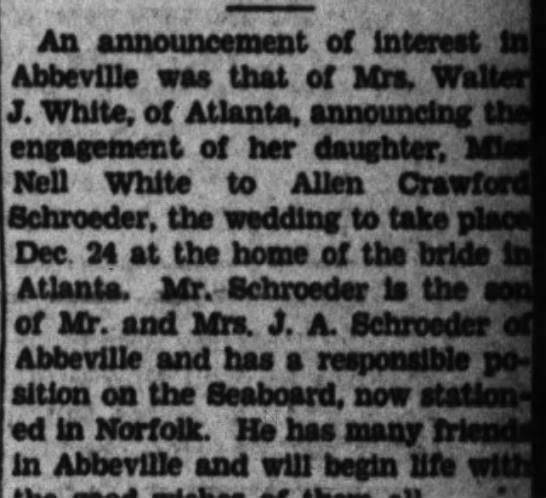 Allen and Nellie tie the knot. - An announcement of interest t Abbeville waa...