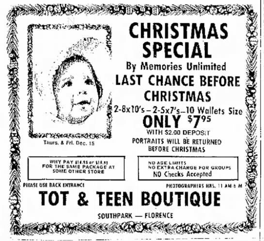 Tot & Teen - w CHRISTMAS 1 jrCLIAL f By Memories Unlimited 4...