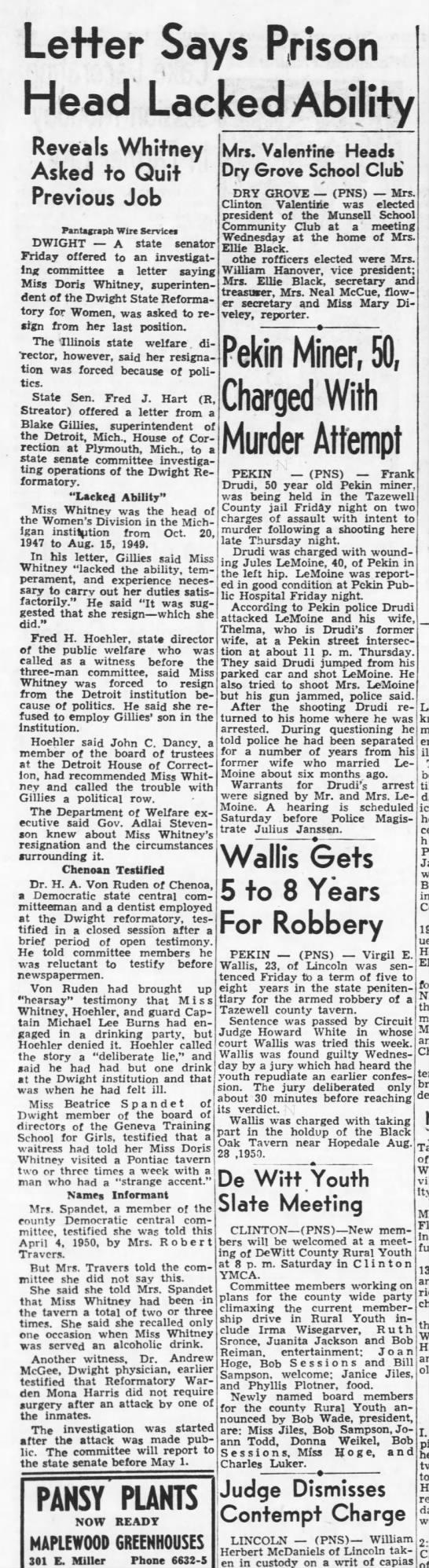 1951-04-21 Panta 05 Detroit Letter - Letter Says Prison Head Lacked Ability Reveals...