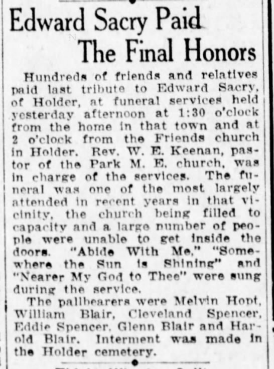 Edward Sacry Funeral - Edward Sacry Paid The Final Honors Hundreds ef...