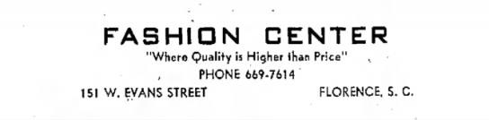"Fashion Center - FASHION CENTER ""Where Quality is Higher thai..."