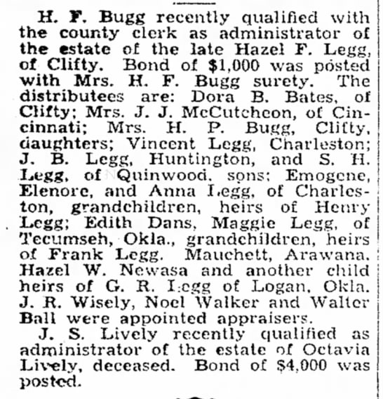 - H. F. Bugg recently qualified with the county...
