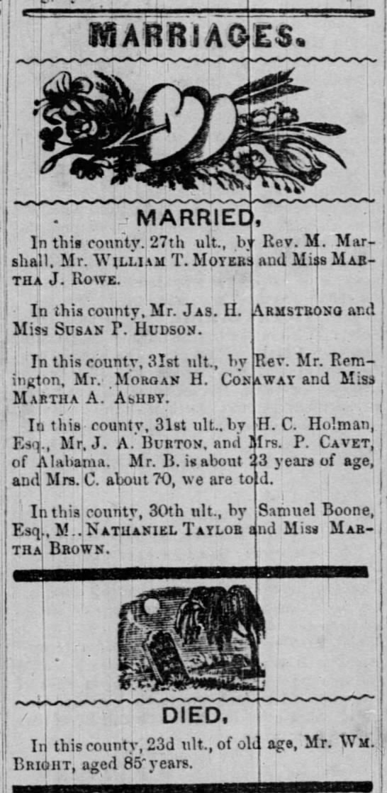 Marriages and Deaths - 'I j j-rm m ! 1 win . MARRIED In this...