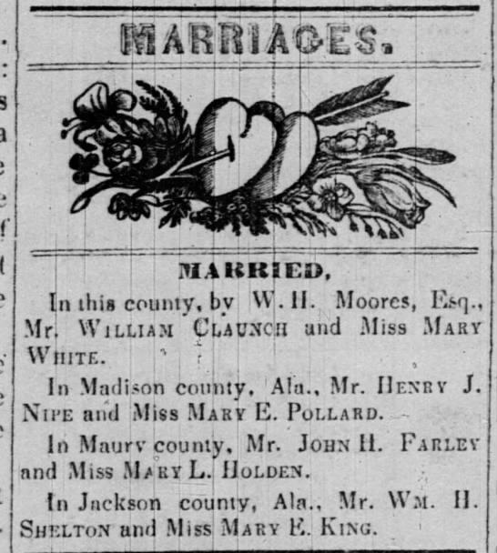 Marriages - i I- i ili.iltKIED, this county, bv Wr II....