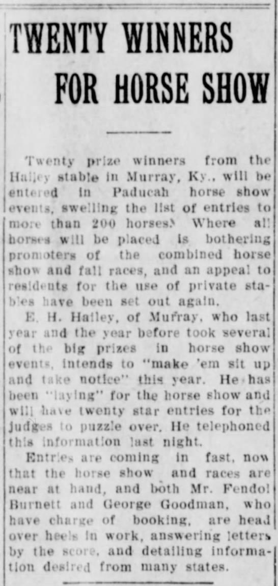 FendolBurnett_Horses - jTWENTY WINNERS SHOWI FOR HORSE SHOW I I Twenty...