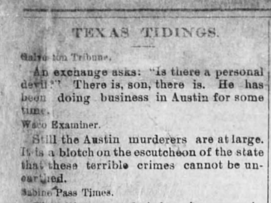 Texas Tidings - ; - TKX VS TIDINGS. (Salta tin Tribune. ' An...