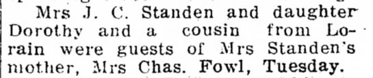 Standen, Mrs JC visits Fowl, 1914