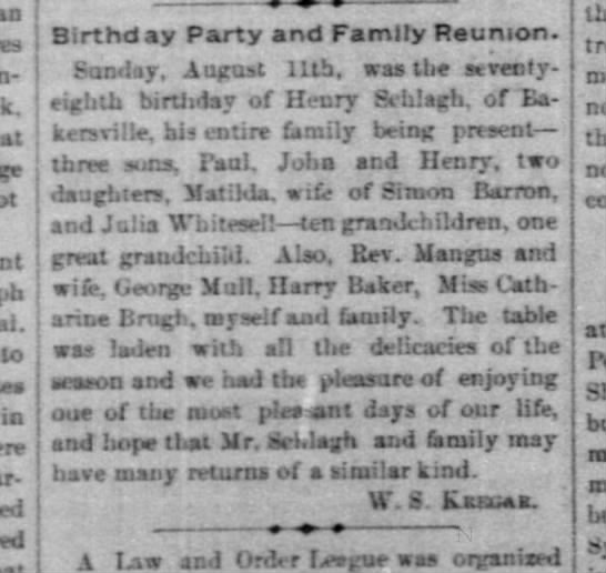 Matilda Barron–Schlagh - j in Birthd ay Party and Family Reunion....