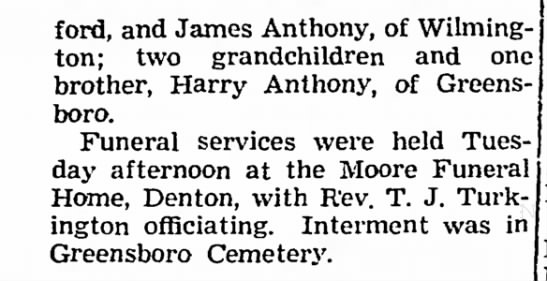 - ford, and James Anthony, of Wilmington; two...
