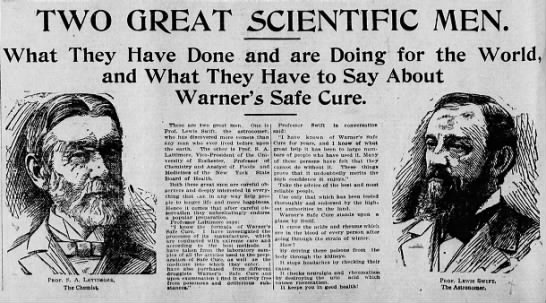 Two Great Scientific Men - Deseret Evening News (Salt Lake City, UT) - 19 Apr. 1898 - I I I I These are two great men One Is I 3 Prof...