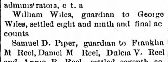 william wiles to george wiles - guardian - svnely alnim which county of admmis'ratoia, c...