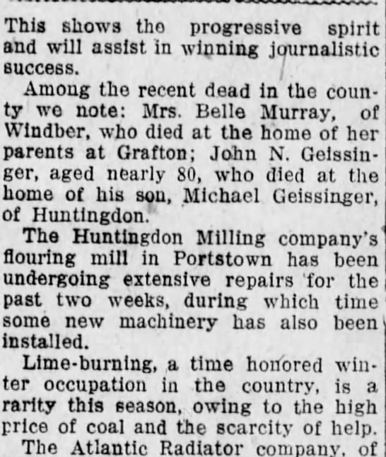 December 14, 1917; Altoona Tribune - This shows tho progressive spirit and will...