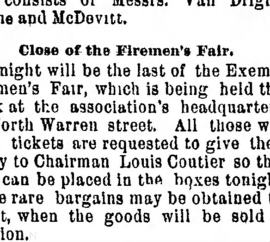 everett 1895 - me and McDovitt. Close of the firemen's Fair....